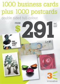 3E 1000 Business Cards + 1000 Postcards